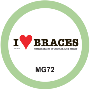 I Love Braces Orthodontist T-Shirt Design